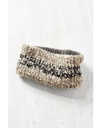 Urban Outfitters - Gray Ribbed Space-dye Boucle Earwarmer - Lyst