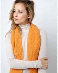 Wool And The Gang | Orange Joni Scarf | Lyst
