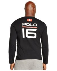 Polo Ralph Lauren | Black Ski Crewneck Shirt for Men | Lyst