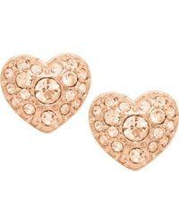 Fossil - Pink Jf01151791 Womens Earrings - Lyst