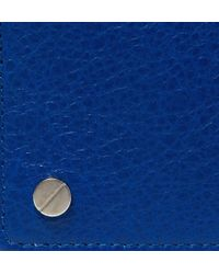 Balenciaga - Blue Creased-Leather Cardholder for Men - Lyst