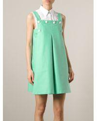 KENZO | Green Buttoned Sailor Dress | Lyst