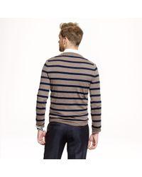 J.Crew - Gray Slim Merino Vneck Sweater in Side Stripe for Men - Lyst