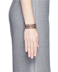 Erickson Beamon | White 'war Of The Roses' Swarovski Crystal Cuff | Lyst