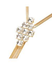 River Island - Metallic Gold Tone Embellished Dangle Necklace - Lyst