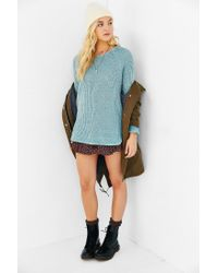 Silence + Noise | Blue Zip Back Shirttail Hem Sweater | Lyst
