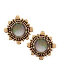 Stephen Dweck - Brown Rock Crystal & Mother-Of-Pearl Clip Earrings - Lyst