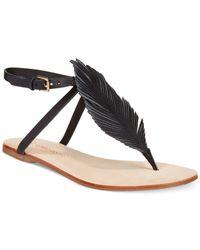 Corso Como - Black Edgar Flat Sandals - Lyst