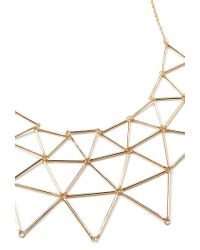 Forever 21 - Metallic Cutout Geo Bib Necklace - Lyst