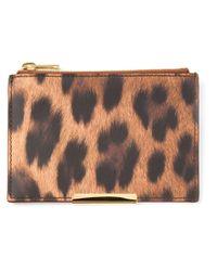 Sophie Hulme - Brown Leopard Print Zip Purse - Lyst