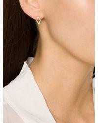 Luis Morais - Metallic Small 'p4' Stud Earrings - Lyst