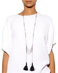 Zeus+Dione - Black Ruby-Agate Tassel Necklace - Lyst