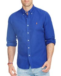 Polo Ralph Lauren | Blue Oxford Cotton Shirt for Men | Lyst