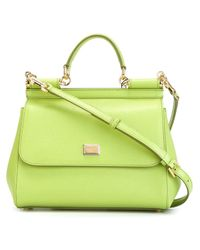 Dolce & Gabbana - Green 'sicily' Tote - Lyst