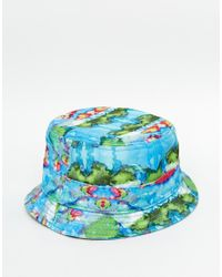 KTZ - Blue Smudge Bucket Hat - Lyst