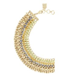 BCBGMAXAZRIA | Metallic Woven-chain Spike Necklace | Lyst