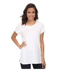Michael Stars | White Dream Short Sleeve Crew Neck Long Tee | Lyst