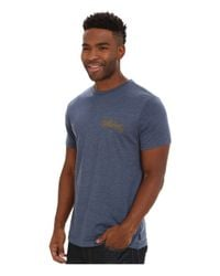 Billabong | Blue Oxford Short Sleeve T-shirt for Men | Lyst