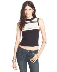 Free People | Black 'move It' Top | Lyst