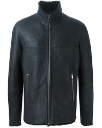 DROMe - Blue Shearling Coat for Men - Lyst