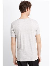 Vince - White Jaspé Feeder Stripe Favorite V-neck Tee for Men - Lyst