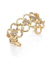 Alexis Bittar | Metallic Miss Havisham Crystal Bound Link Cuff Bracelet | Lyst