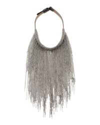 Brunello Cucinelli | Metallic Necklace | Lyst