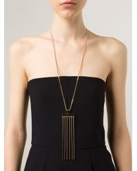 Chloé - Metallic Rigid Pendant Necklace - Lyst