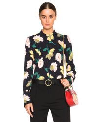 Marni | Black Floral Top | Lyst