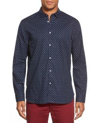 Ted Baker | Gray 'autumn Paisley' Modern Slim Fit Sport Shirt for Men | Lyst