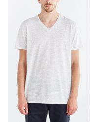BDG - White Feeder Stripe Standard-fit V-neck Tee for Men - Lyst