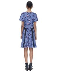 Rebecca Taylor | Blue Alyssum Print Dress | Lyst