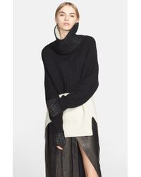 Prabal Gurung | Black Colorblock Cashmere Sweater | Lyst