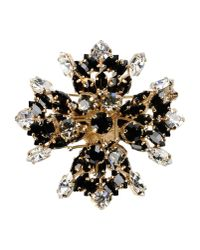 DSquared² | Metallic Gem Encrusted Brooch | Lyst