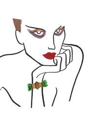 Marion Vidal | Green Ribbon Bracelet | Lyst
