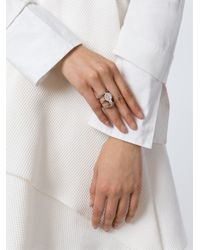 Ledaotto - Metallic Embellished Ring - Lyst