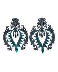 Roberto Cavalli | Green Clip On Earrings | Lyst