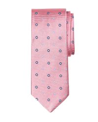 Brooks Brothers - Pink Spaced Flower Tie for Men - Lyst