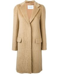 Max Mara | Natural Crocodile Effect Jacquard Classic Coat | Lyst