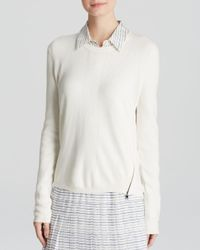 Vince | White Sweater - Side Zip | Lyst