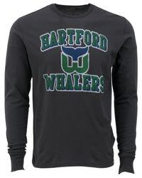 47 Brand - Gray Men's Long-sleeve Hartford Whalers Flanker T-shirt for Men - Lyst