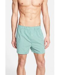 Lacoste | Green Woven Cotton Boxers for Men | Lyst