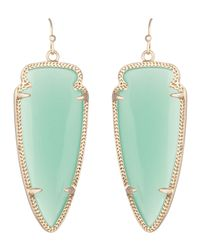 Kendra Scott - Green Skylar Earrings - Lyst