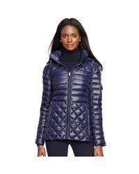 Ralph Lauren | Blue Full-zip Down Jacket | Lyst