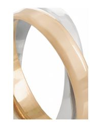 Inez & Vinoodh - Metallic 18-karat Rose Gold And Sterling Silver Interlinked Rings - Lyst