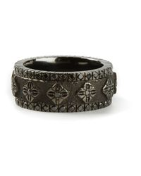 Shamballa Jewels - Gray Diamond Embellished Ring for Men - Lyst