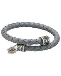 ALEX AND ANI | Metallic Braided Leather Wrap Bracelet | Lyst