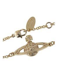 Vivienne Westwood - Metallic Bas Relief Diamanté Orb Bracelet - Lyst