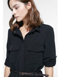 Mango | Black Belt Shirt Dress | Lyst