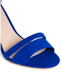 Carvela Kurt Geiger | Blue Carly Barely There Heeled Sandal | Lyst